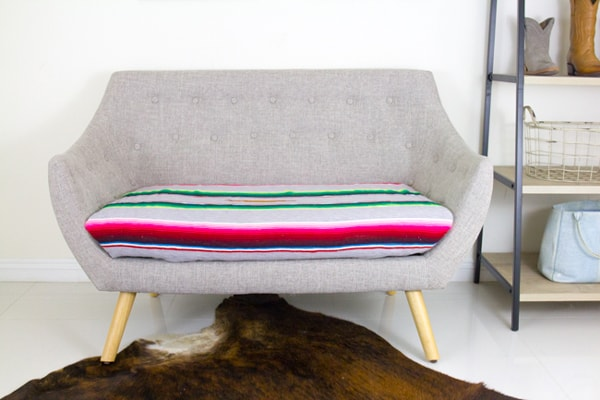 Mid-Century-serape-covered-loveseat