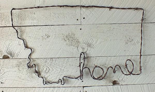 Montana Home Wire Art