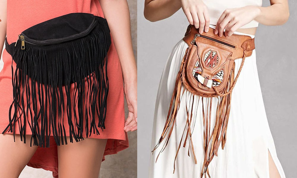 fringe fanny packs to obsess over