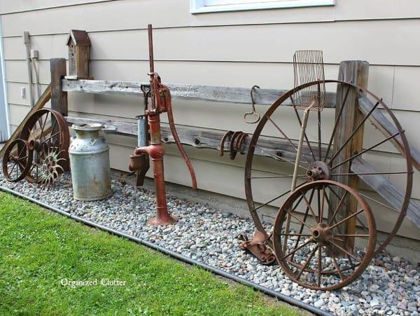 Garden Decor Ideas From Junk Landscape Outdoor Living Old Wagon Wheels