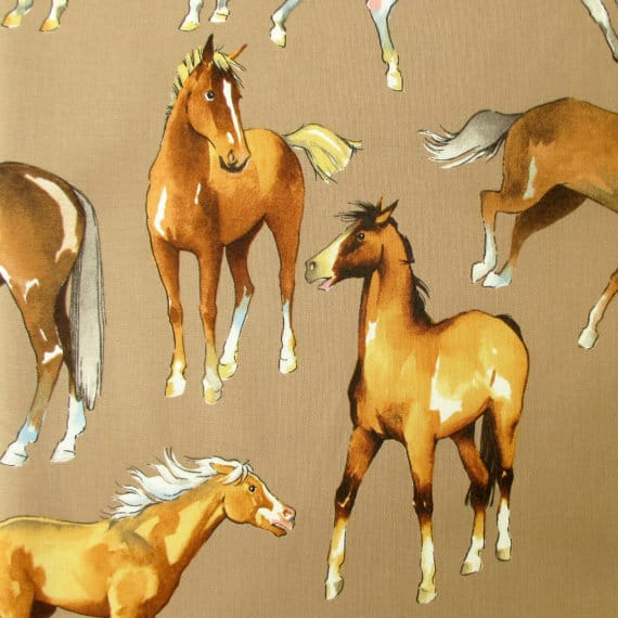 horse print fabric