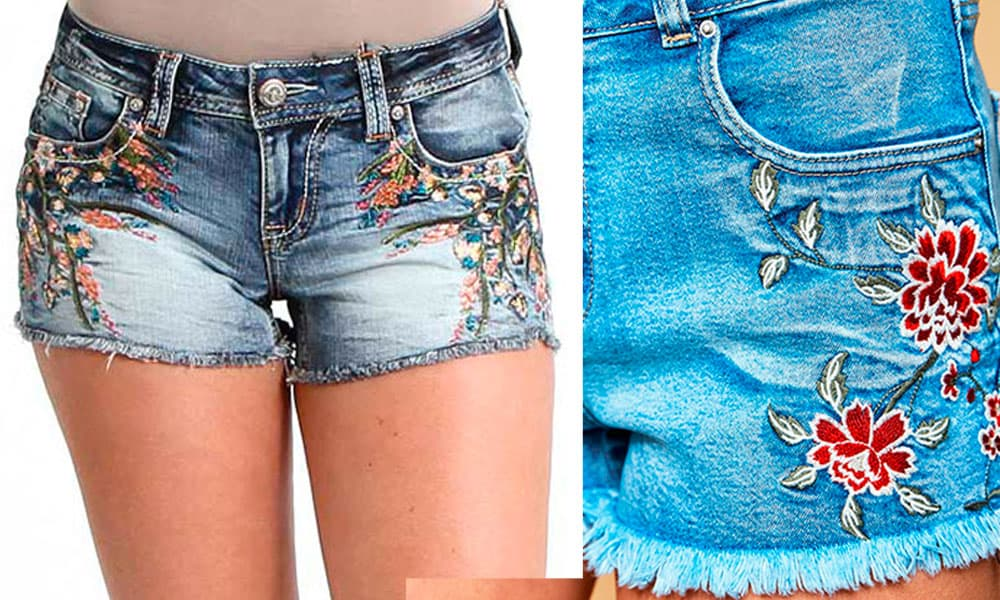 embroidered shorts cowgirl