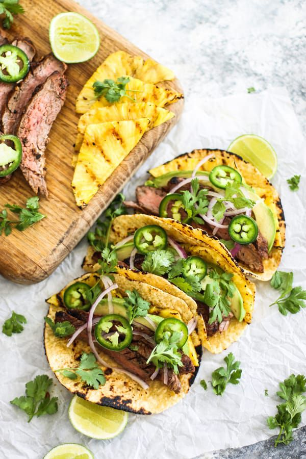 Grilled+Pineapple+and+Flank+Steak+Tacos