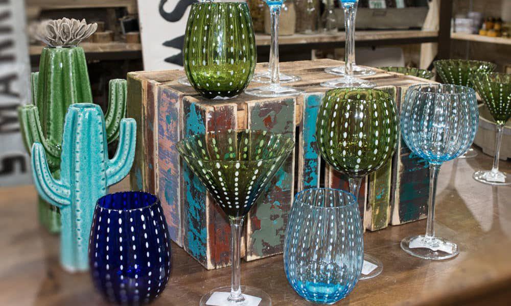 Cambria cactus glassware Teskeys cowgirl magazine