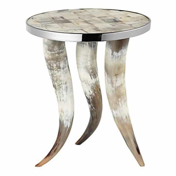 horn-accent-table