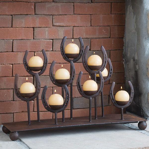 horseshoe-candle-holder
