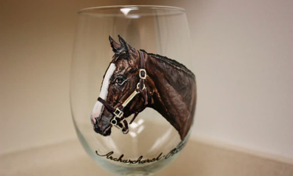 Painted Horse Wine Glasses Cowgirl Magazine