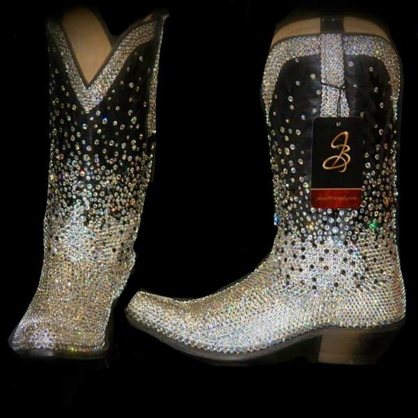jacqi bling blinged boots cowgirl magazine