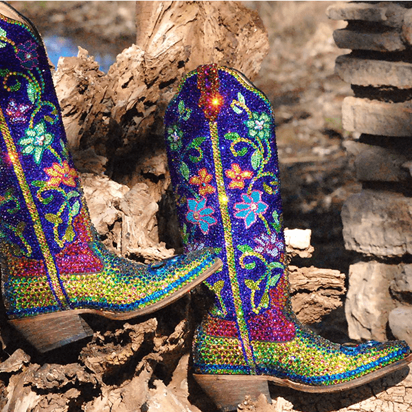 jacqi bling blinged out boots cowgirl magazine