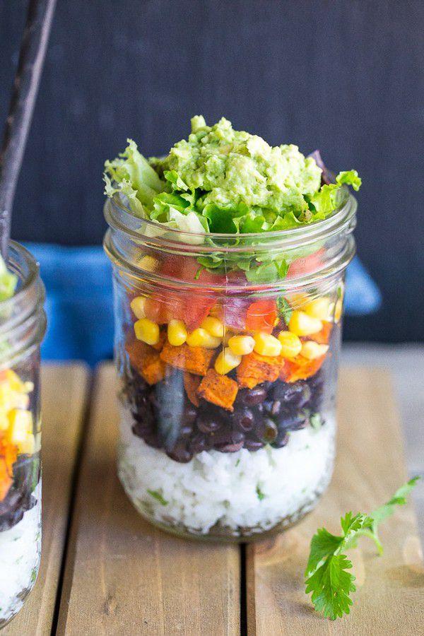 Vegetarian-Mason-Jar-Burrito-Bowls