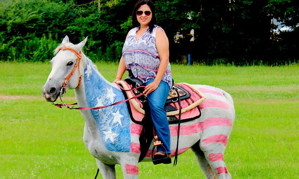 Patriotic Horses 4th of July Red White Blue Cowgirl Magazine