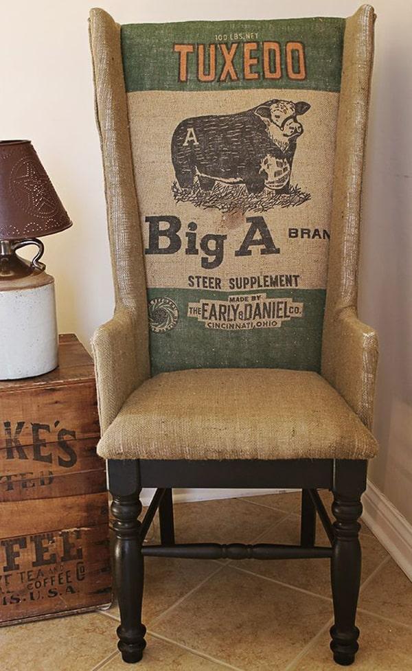 rustic-feed-sack-chair