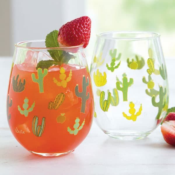 funky cactus summer drinkware cowgirl magazine