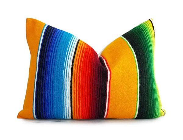yellow-serape-pillow