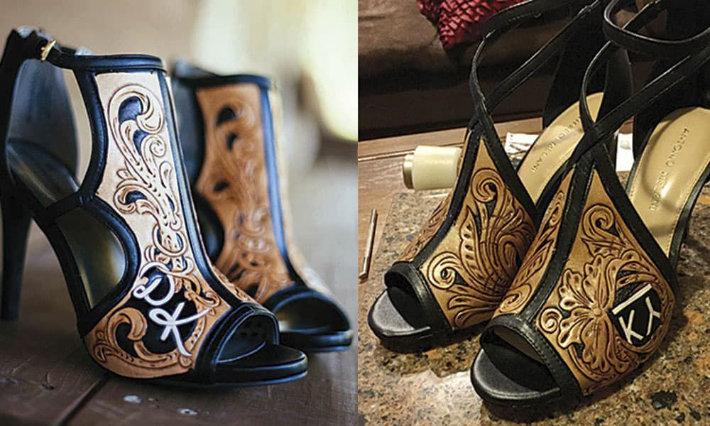 tooled leather western heels rk leather cowgirl magazine