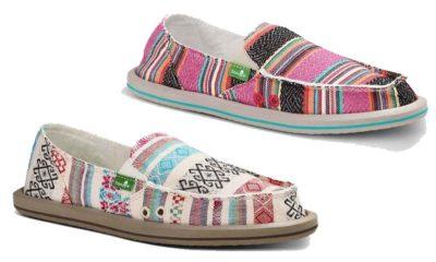 sanuk sanuks shoes shoe sandal sandals beach serape lace olive cowgirl magazine