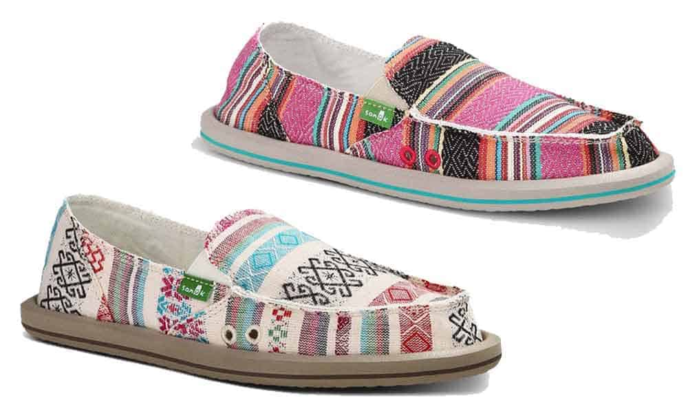 sanuk sanuks shoes shoe sandal sandals beach serape lace olive cowgirl magazine