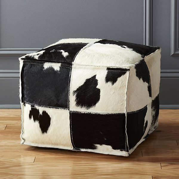spotted-cowhide-pouf