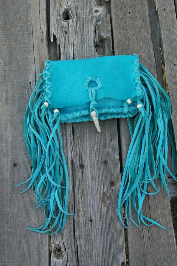 turquoise-leather-clutch