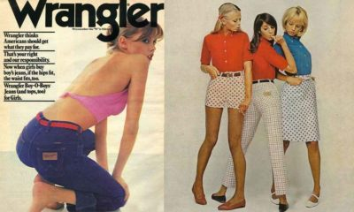 wrangler wranglers blue bell vintage western fashion 1980 1990 cowboy men man cowgirl magazine high waist high waisted high rise rockies colored denim color