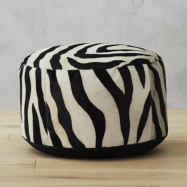 zebra-pouf