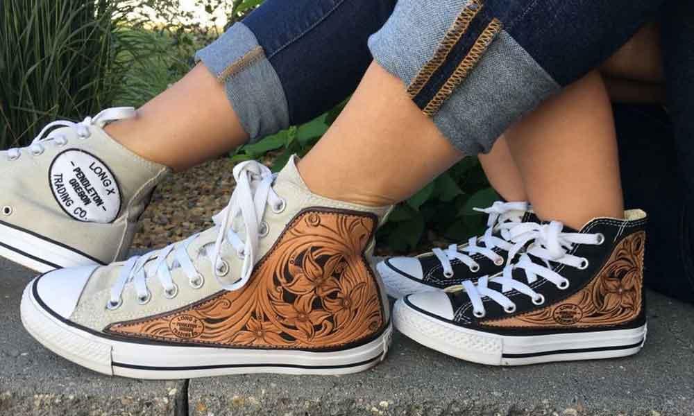 converse leather custom