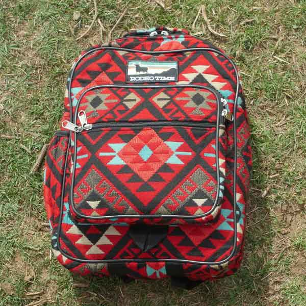 dale brisby rodeo time powpow pow pow backpack aztec cowgirl magazine