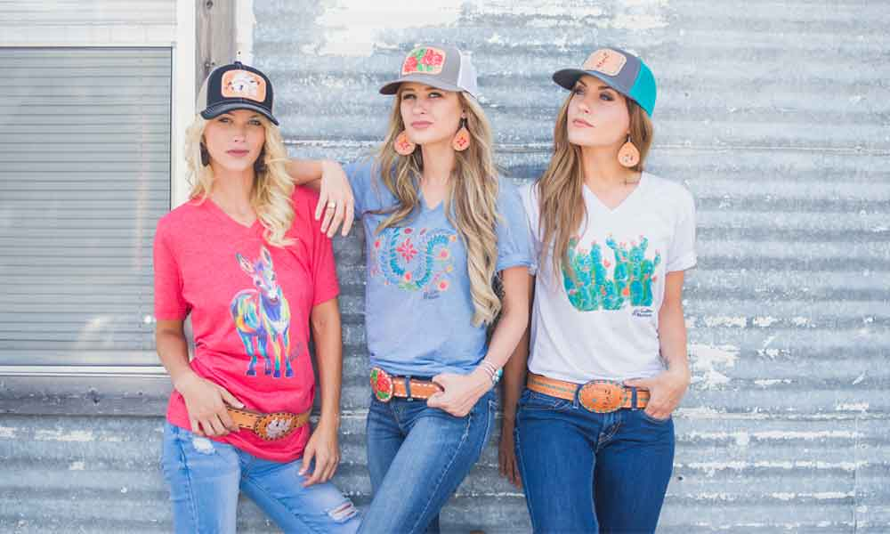 mintire saddlery fall line leather leatherwork graphic tee tees cap hat belt vintage cowgirl magazine