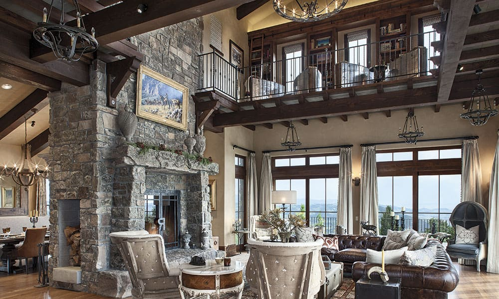tuscan treasure montana residence western home cowgirl magazine