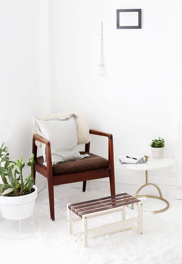 Leather-Footstool