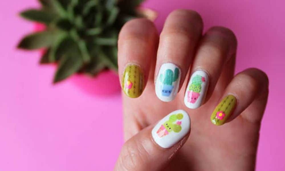 cactus nail designs