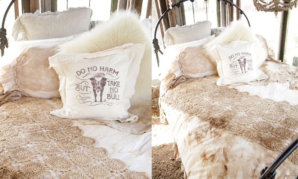 flash and trash bedding duvet throw pillows pillow sham shams junk gyspy cowgirl magazine