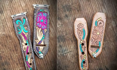 jason Becker custom leather Apple Watch band bands cowgirl magazine