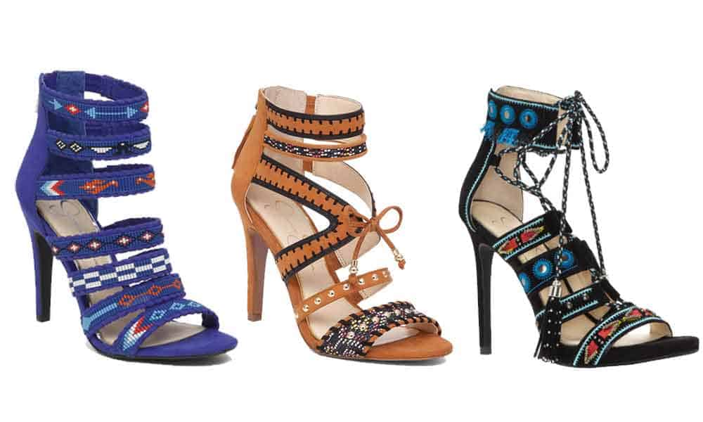 Jessica Simpson erienne errienne elishia roona high heels high heel heels dress shoes beaded bead beads cowgirl magazine