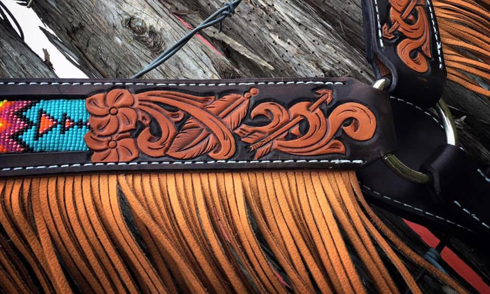 Fringed breast collars horse tack cowgirl magazine