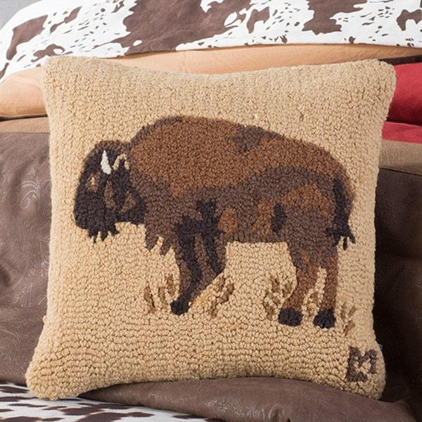 hooked-buffalo-pillow