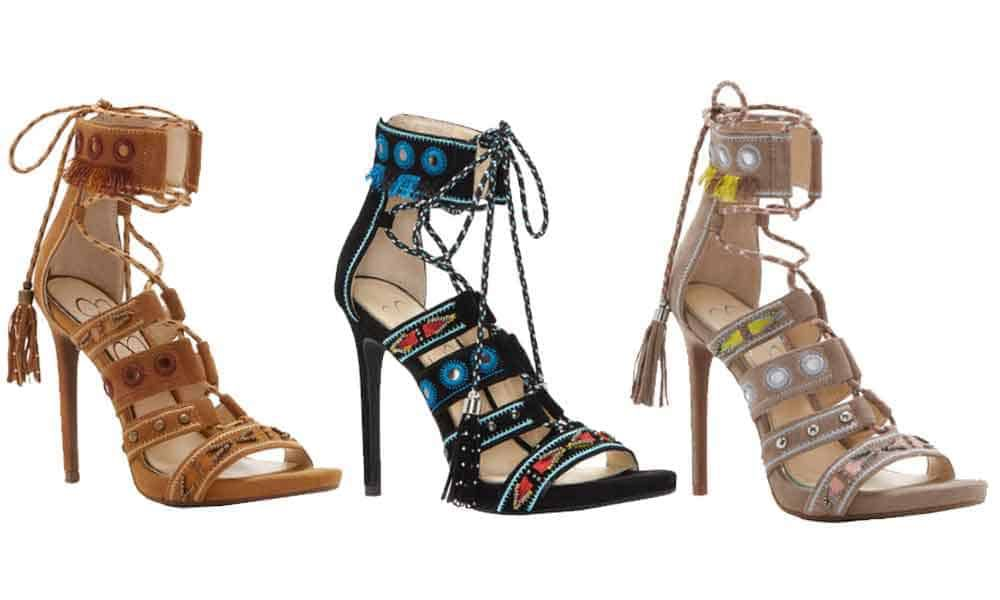 beaded heels Jessica Simpson erienne errienne elishia roona high heels high heel heels dress shoes beaded bead beads cowgirl magazine