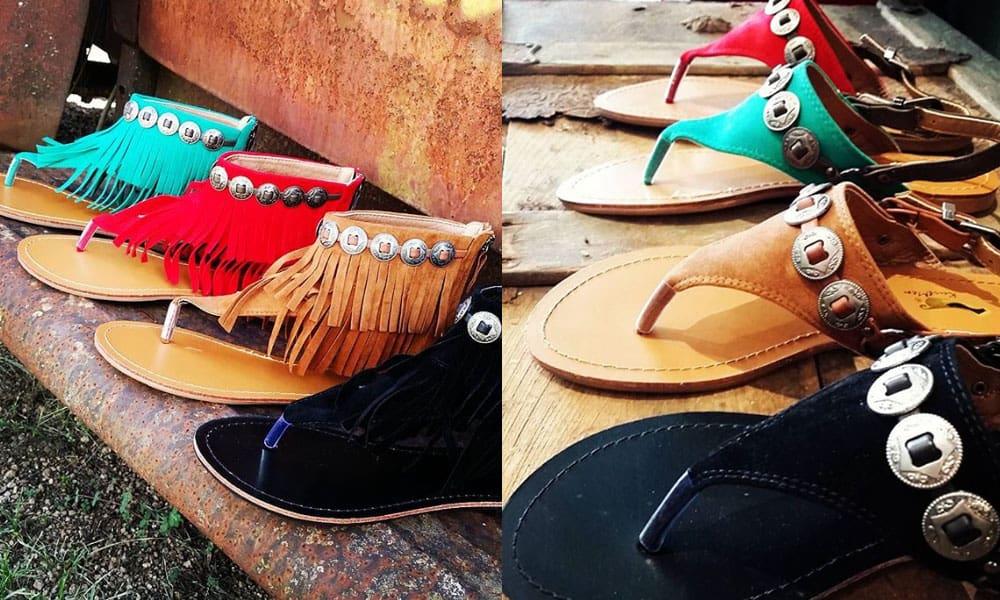 kurtmen sandal sandals kurtman shoe shoes summer fringe turquoise red black buckskin tan black leopard cheetah cowgirl magazine