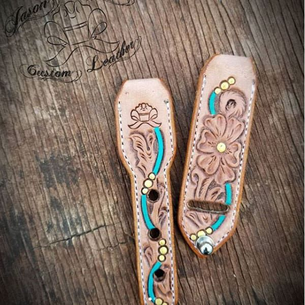 tooled leather work jason Becker custom leather Apple Watch band bands cowgirl magazine