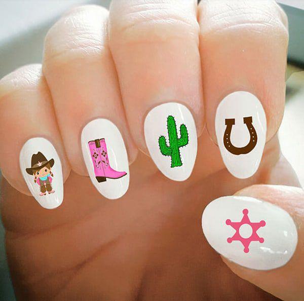 cactus decals nails cowgirl magazine