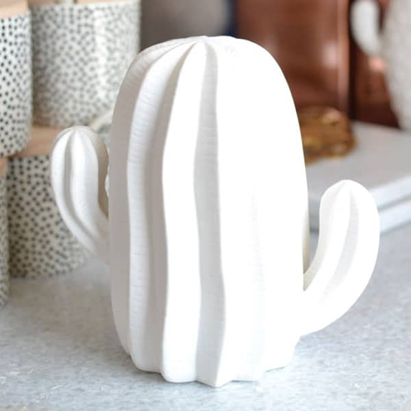 bloomingville cactus cacti vase vases white porcelain decor home decor cowgirl magazine
