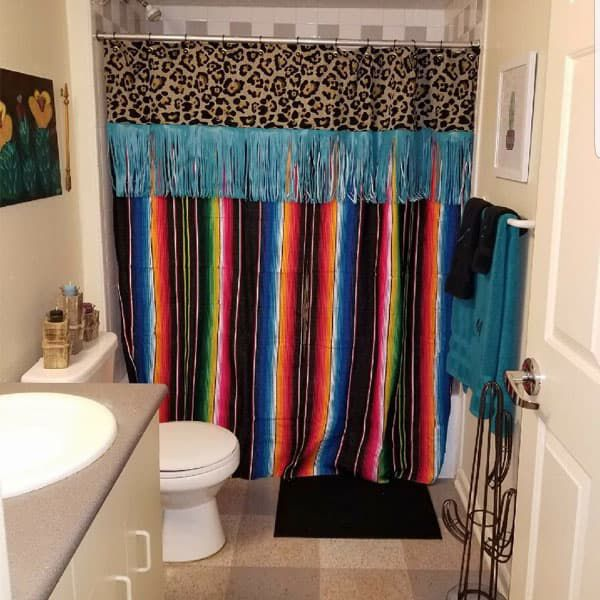 dorm life on point red dirt revival serape Mexican bright colors college bedroom bed bedding cowgirl magazine