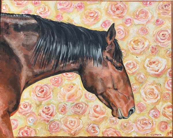 bay-horse-and-flowers