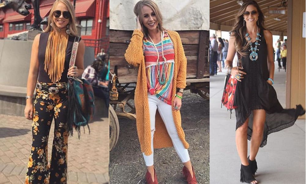 pendleton roundup rodeo western fashion western couture boho gypsy fringe colors bells suede Jena west desperado bleacher babe squad the bleacher babe cowgirl magazine