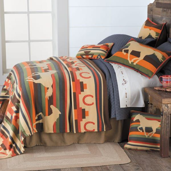 horse-print-bedding-and-pillows