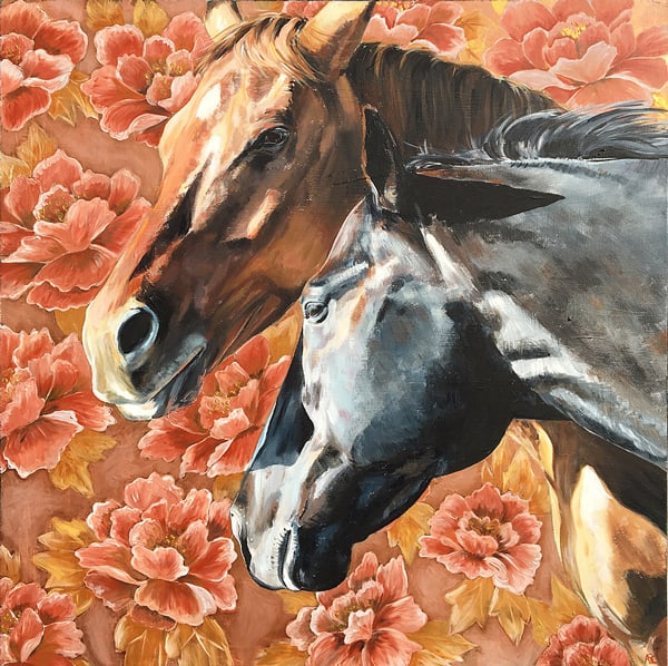 horses-and-flowers