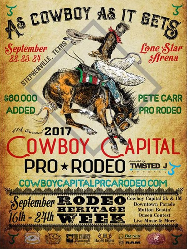 future stars of rodeo cowboy capital of the world pro rodeo association price ccpra the show rodeo scholarship college team rope team roping barrel racing bull riding stephenville texas tx cowgirl magazine
