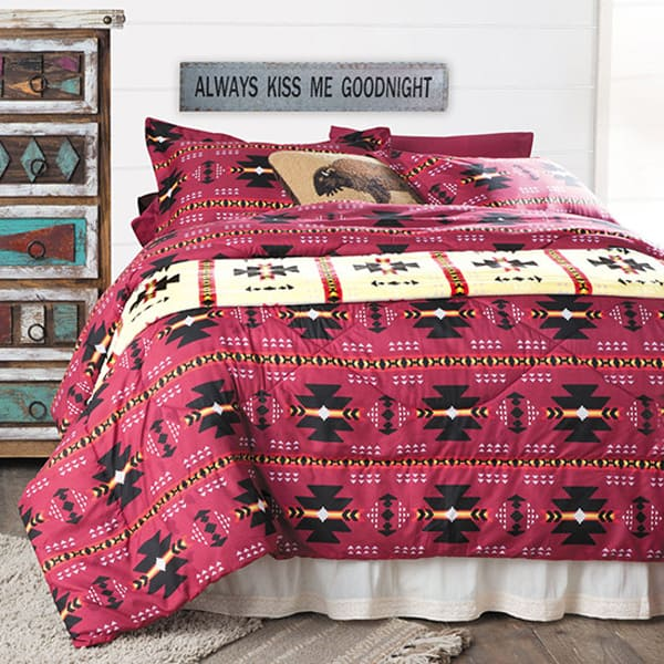 red-western-bedding