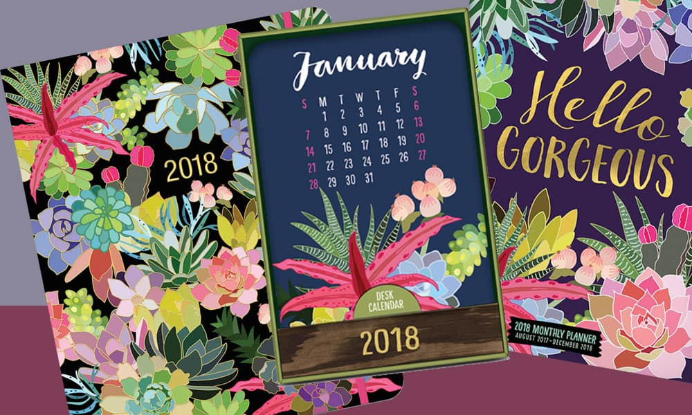 succulent planner succulents hidden spiral succulents on-time weekly planner succulents poster calendar succulents monthly pocket planner succulents wood block desk calendar cactus cacti planner planning new year