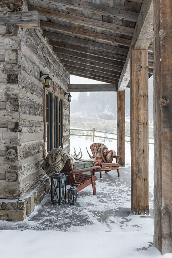 Winter Wonderland Cabin Rustic Homes Cowgirl Magazine